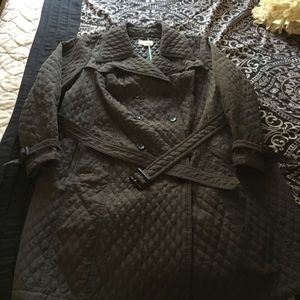 Gray Merona quilted trench-coat